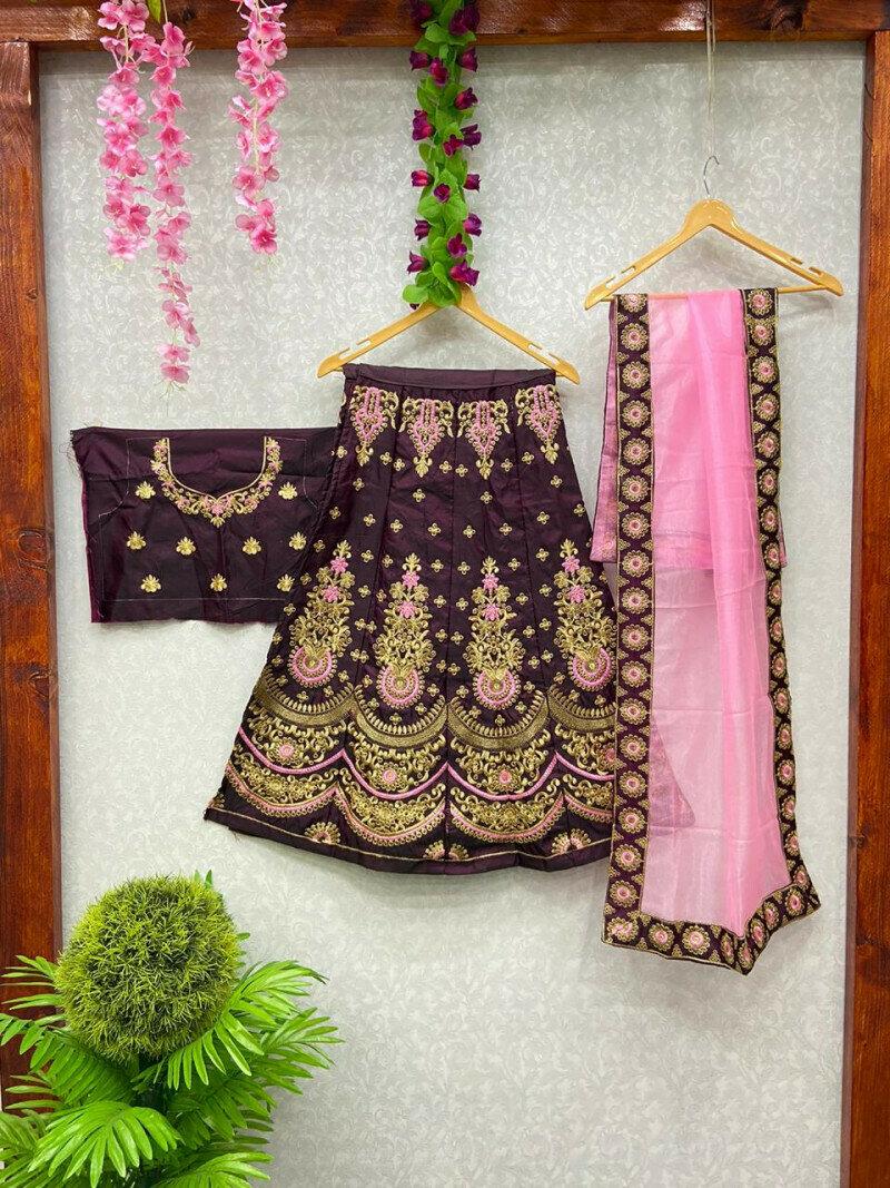 Designer Bridal Wear Brown Lehenga Choli