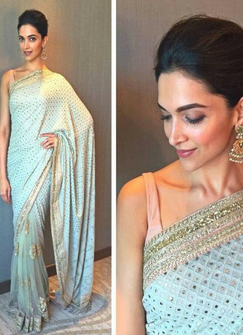 Designer Deepika Sange Murmal Georgette Saree