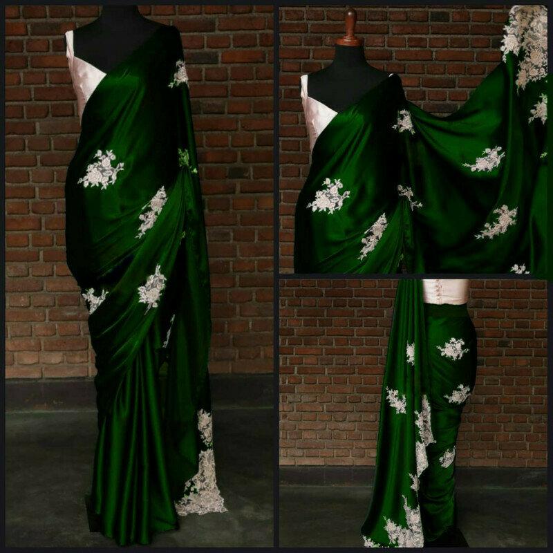 Designer Green Party Wear Saree