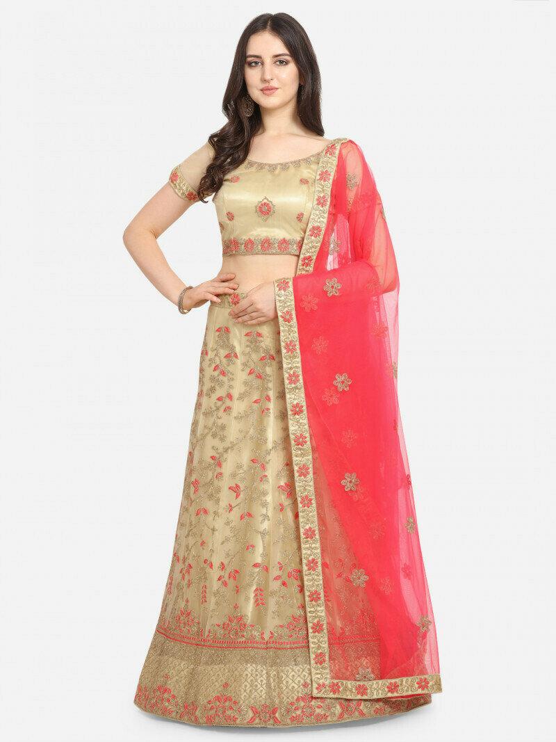 Divine Designer Golden Color Lehenga Choli in low rate