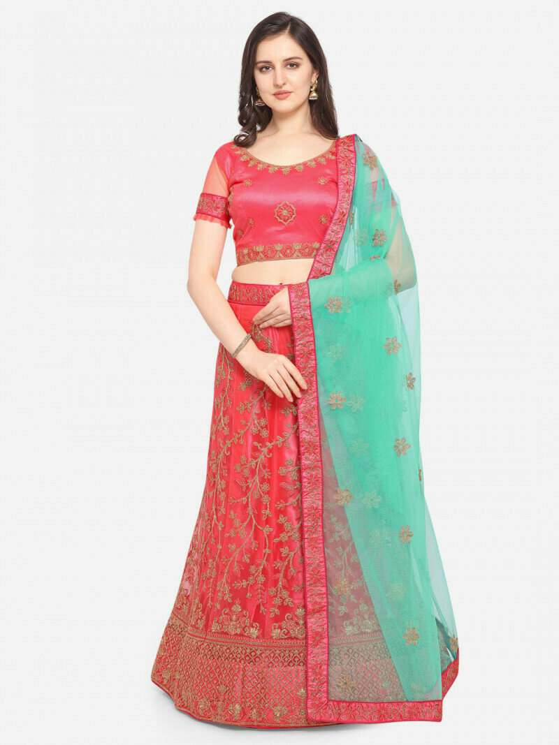 Divine Party Wear Light Pink Lehenga Choli in low rate