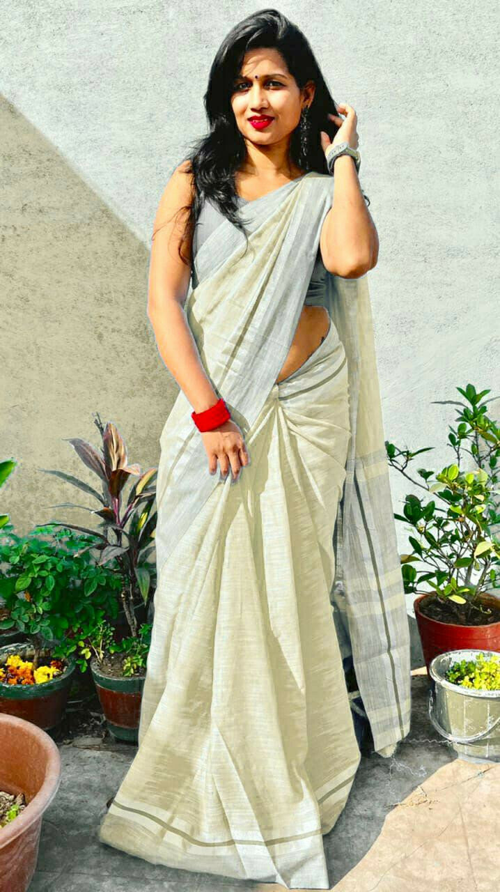 Divine Party Wear Off Pista Saree in low rate