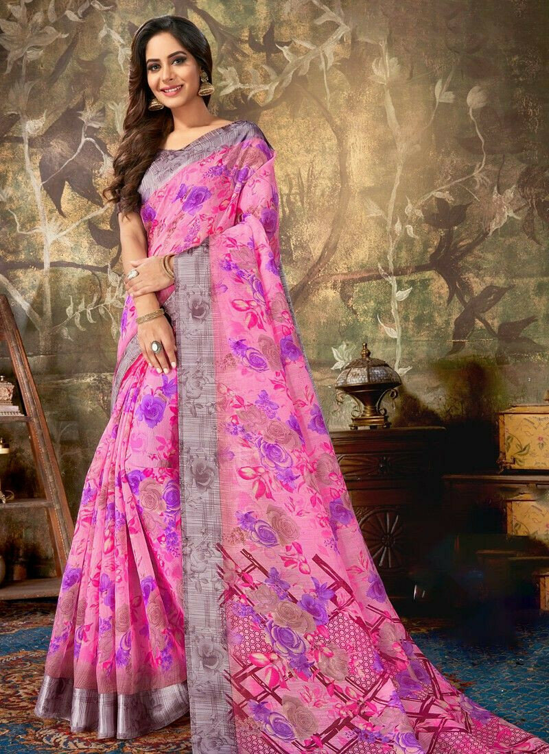Exceptional Multi Color Cotton Saree Collection