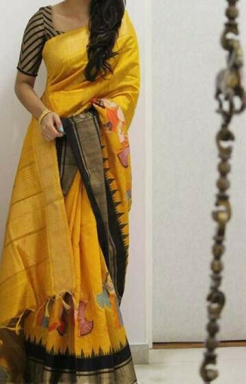 Fabulous Yellow Color Soft Silk Designer Sarees