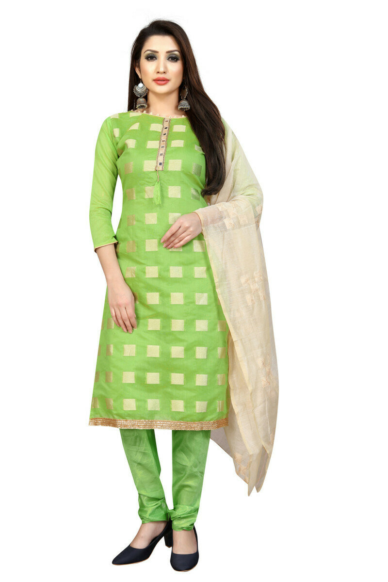 Fancy Cotton Silk Salwar Suit For Woman