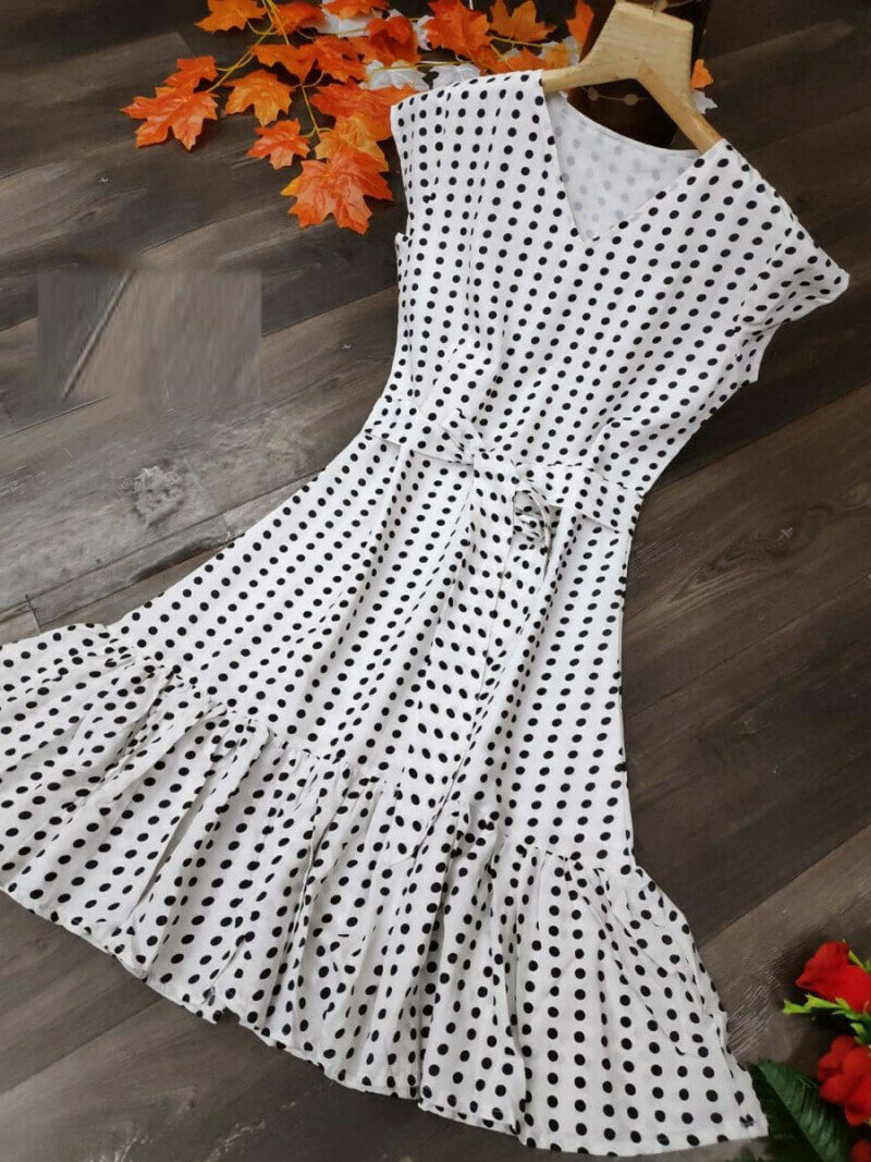Fancy White Printed One Piece