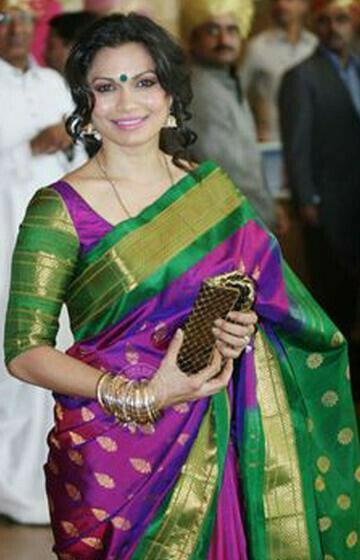 Fashionable purple and Green Color Soft Silk Designer Saree