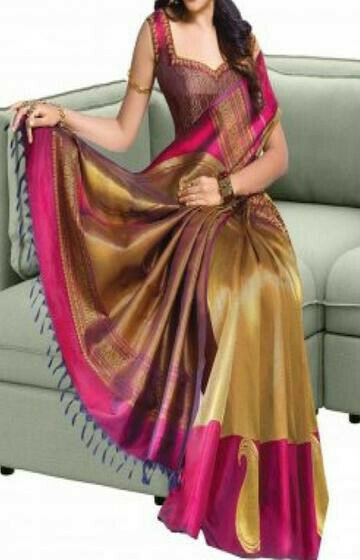 Fresh Beige And Pink Color Soft Silk Saree