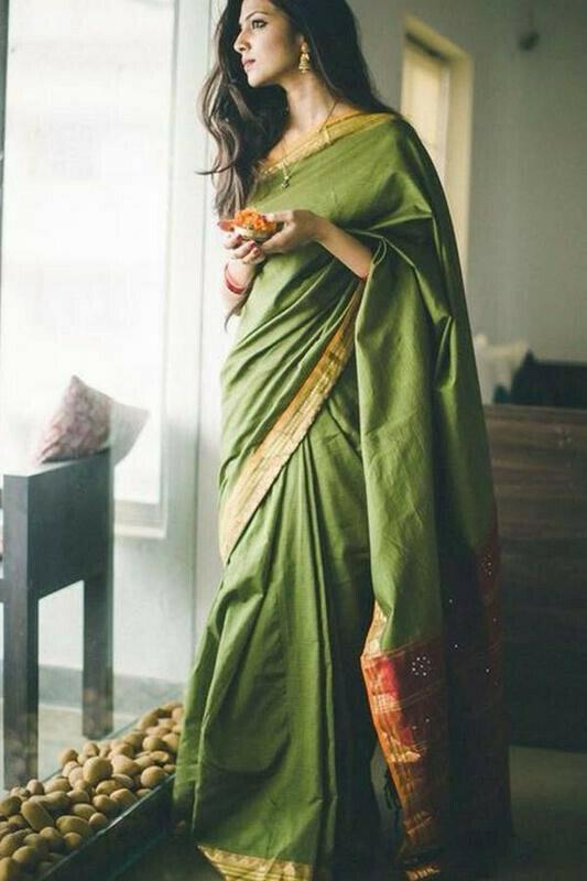 Green Color Beautiful Art Silk Saree for Women
