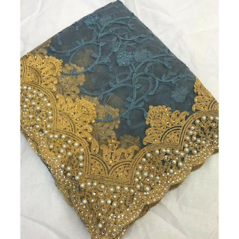 Grey Heavy Embroidery Diamond Work Banglori Silk Party Wear Designer Saree