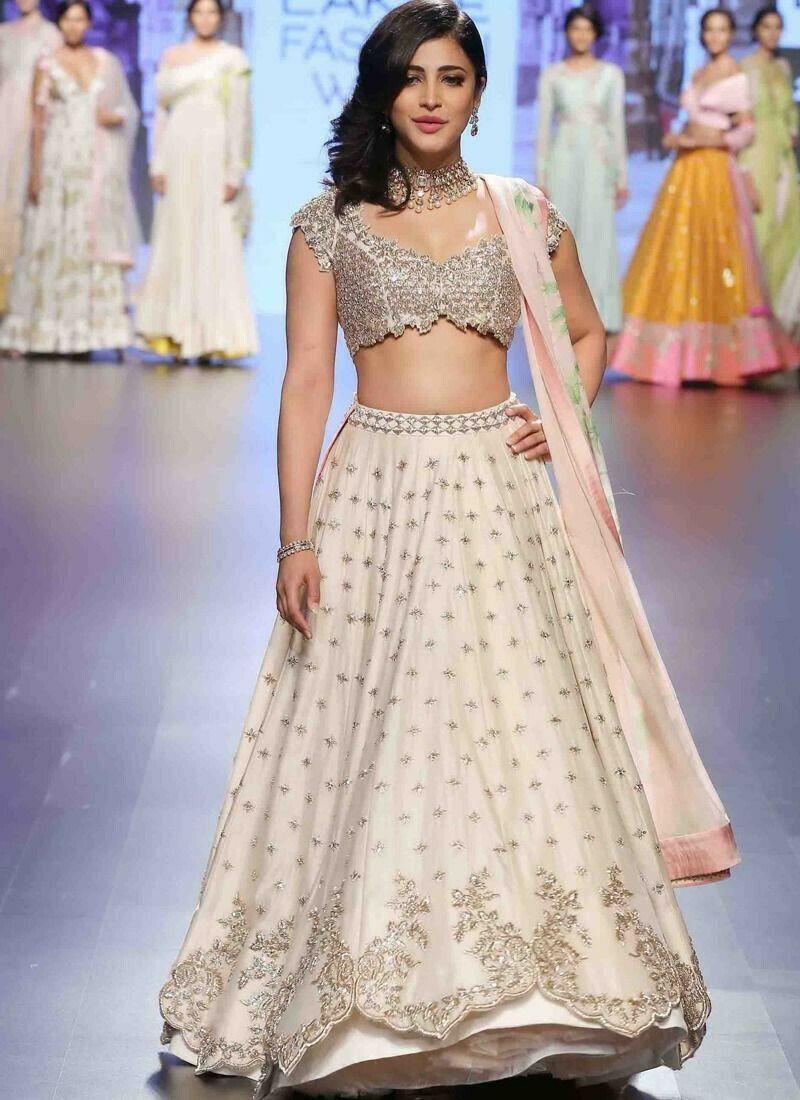 Heavy Embroidery Designer Lehenga Choli In Cream Colour