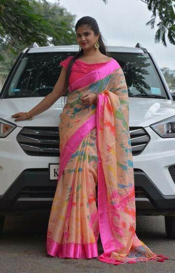 Ideal Pink Color Soft Silk Designer Sarees