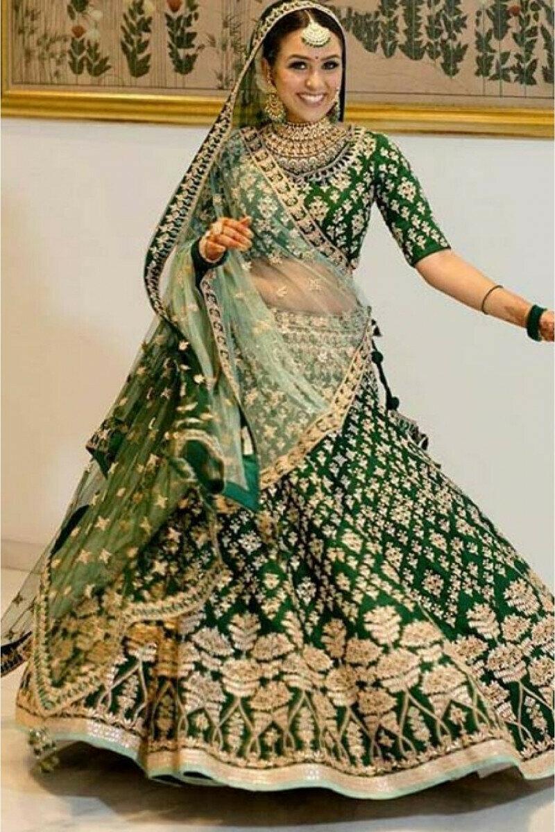 Latest Beautiful Green Lehenga Choli