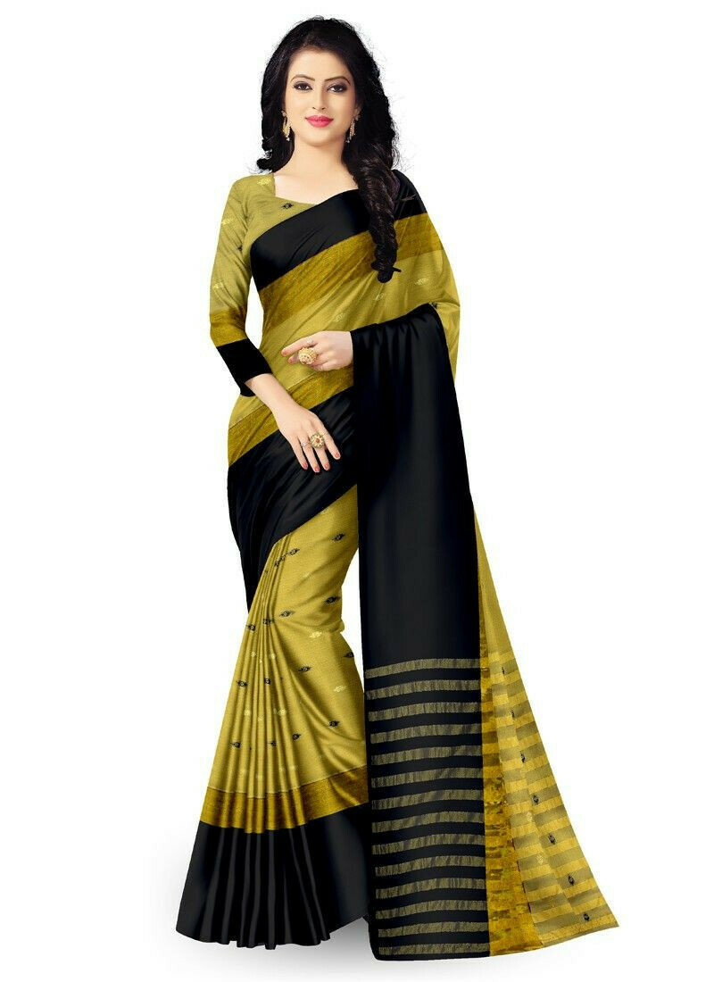Latest Collection Multi Color Indian Saree With Blouse Piece