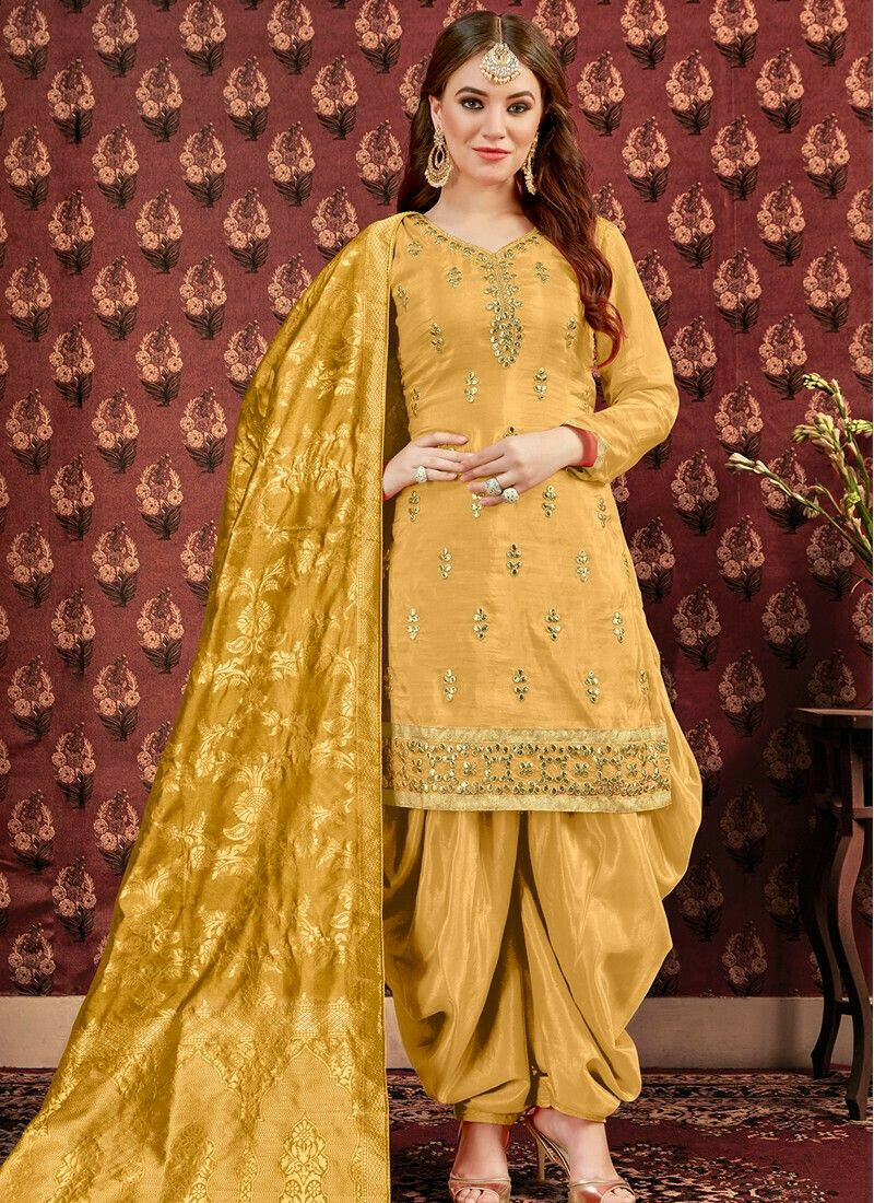 Latest Collection Yellow Designer Patiala Suit