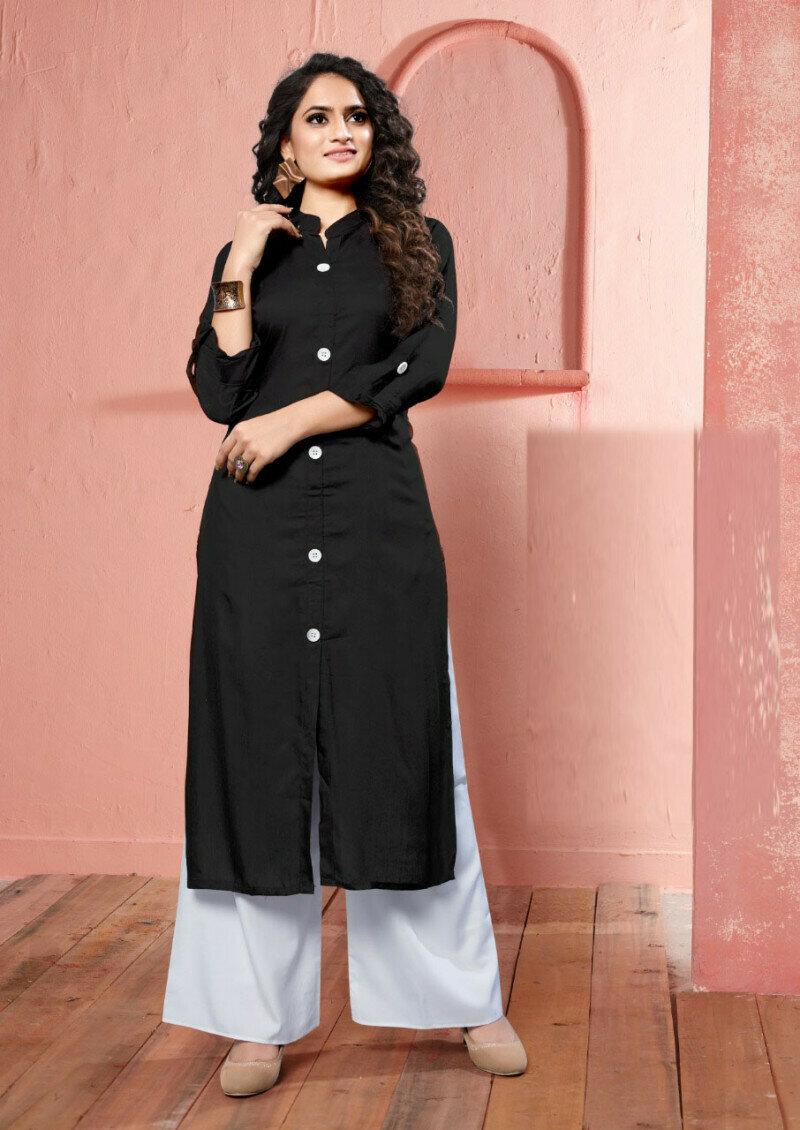 Latest Designer Black Fancy Palazzo Suit