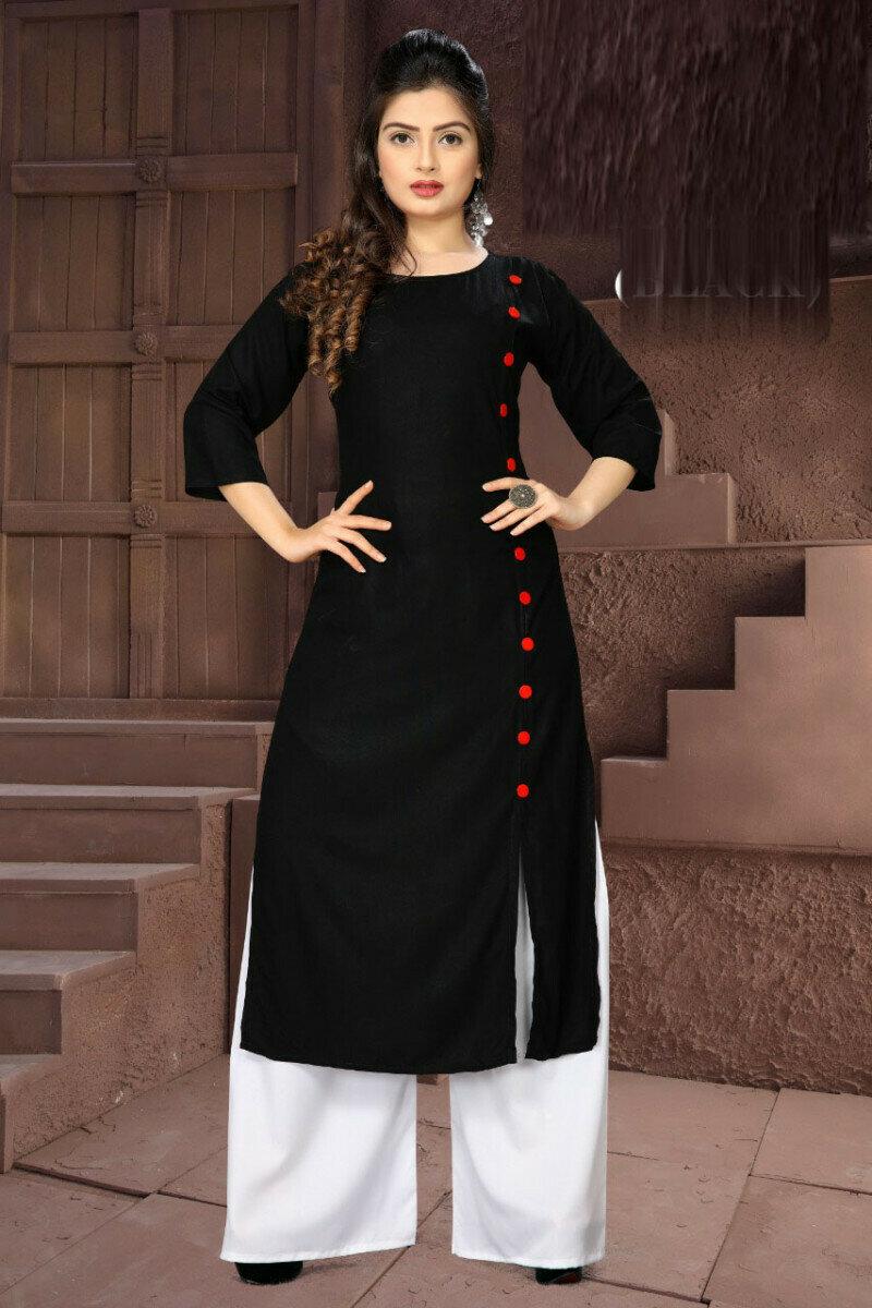 Latest Designer Black Palazzo Suit
