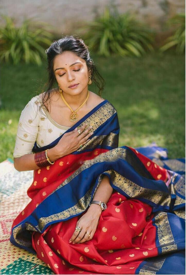 Latest Designer Red Saree