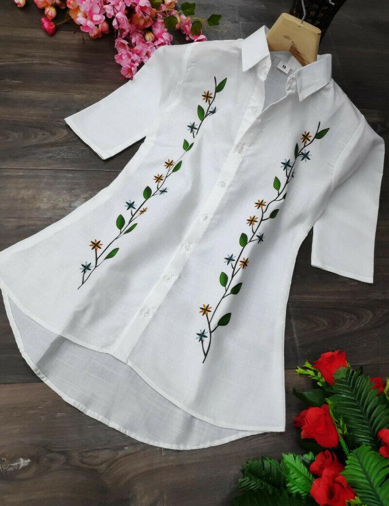 Latest Designer White Cotton Western Wear