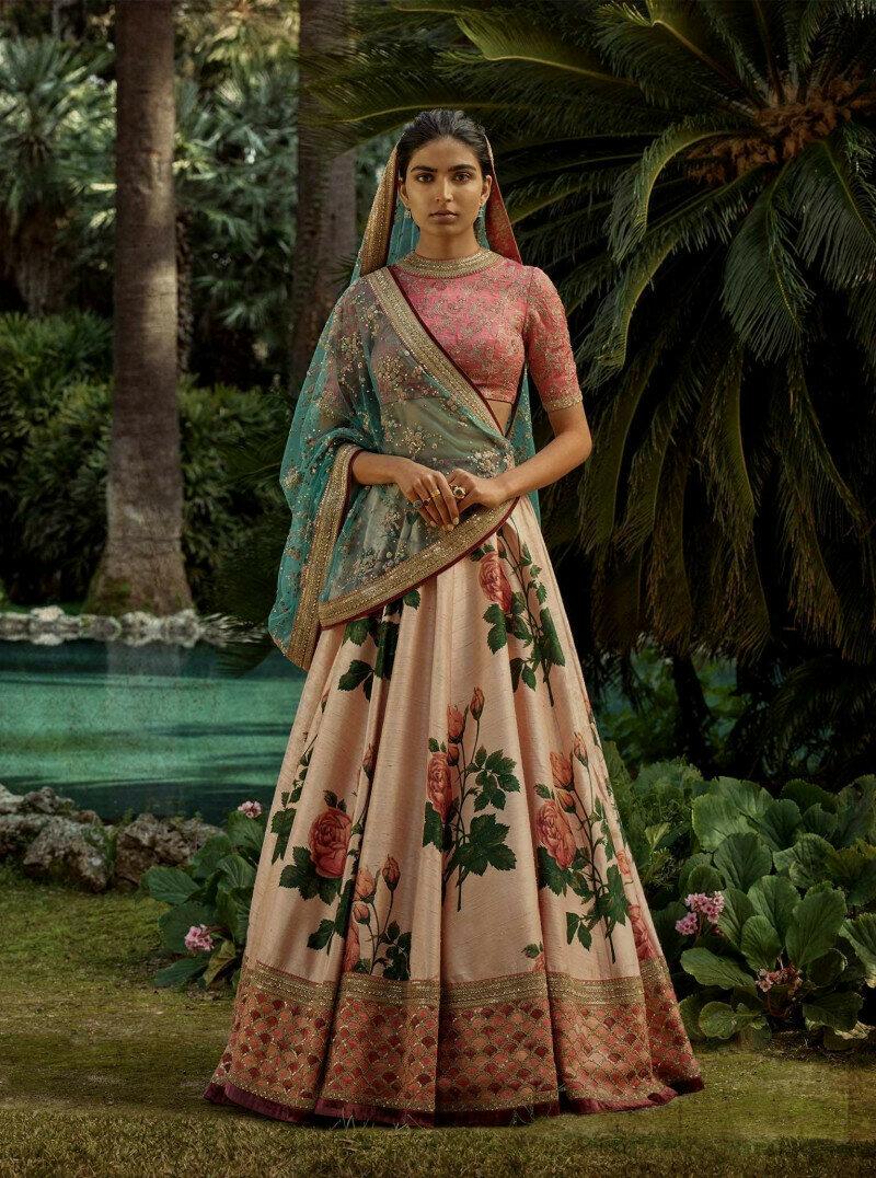 Latest Digital Printed Light Pink Color Embroidery Work Lehenga Choli