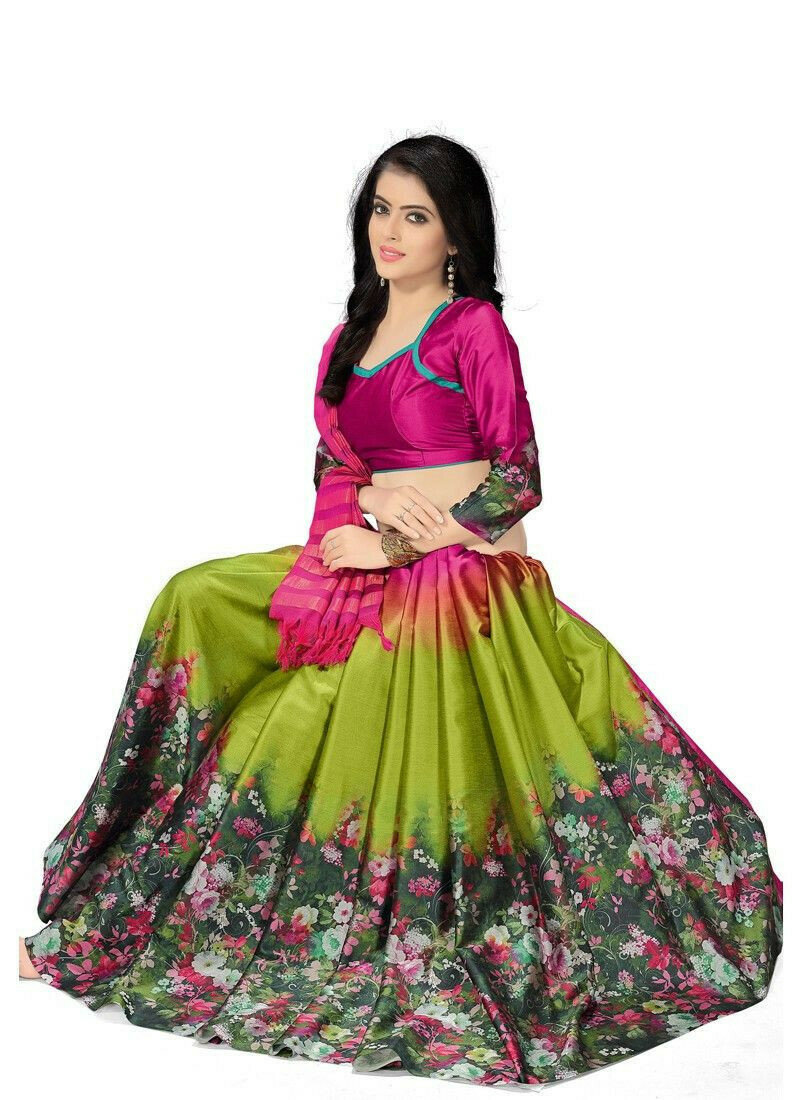 Latest Fashions Multi Color Designer Saree With Blouse Piece