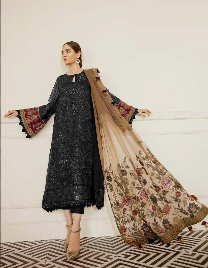 Latest New Black Pakistani Suit