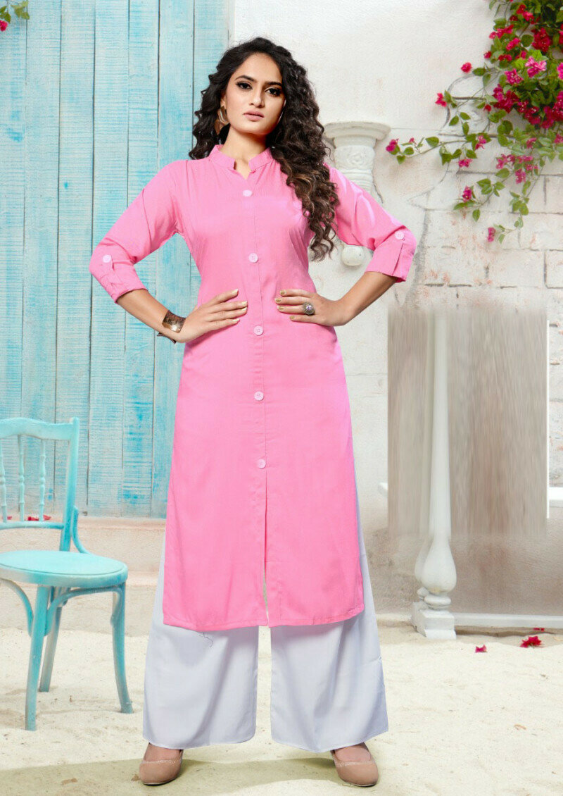 Light Pink Party Wear Printed Palazzo Suit