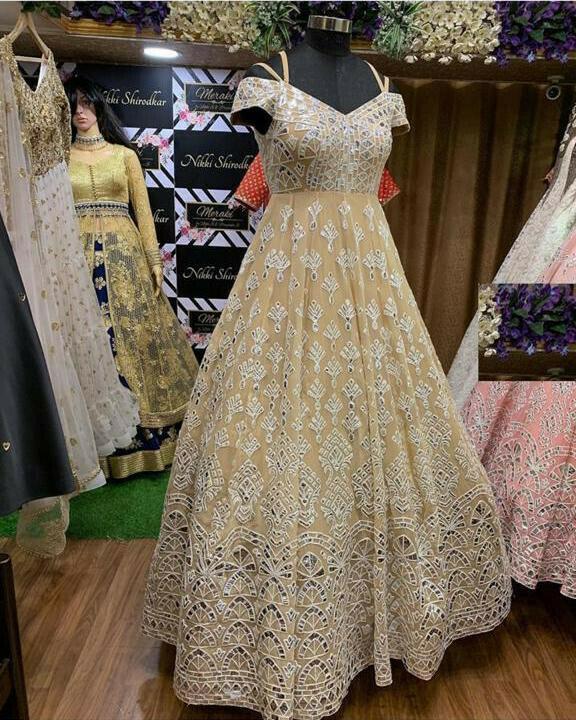 Mesmeric Beige Color Wedding Wear Styles Suit