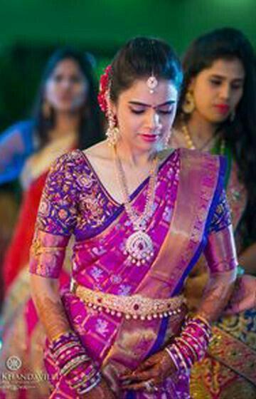 Mesmerising Purple Color Designer zarna silk saree