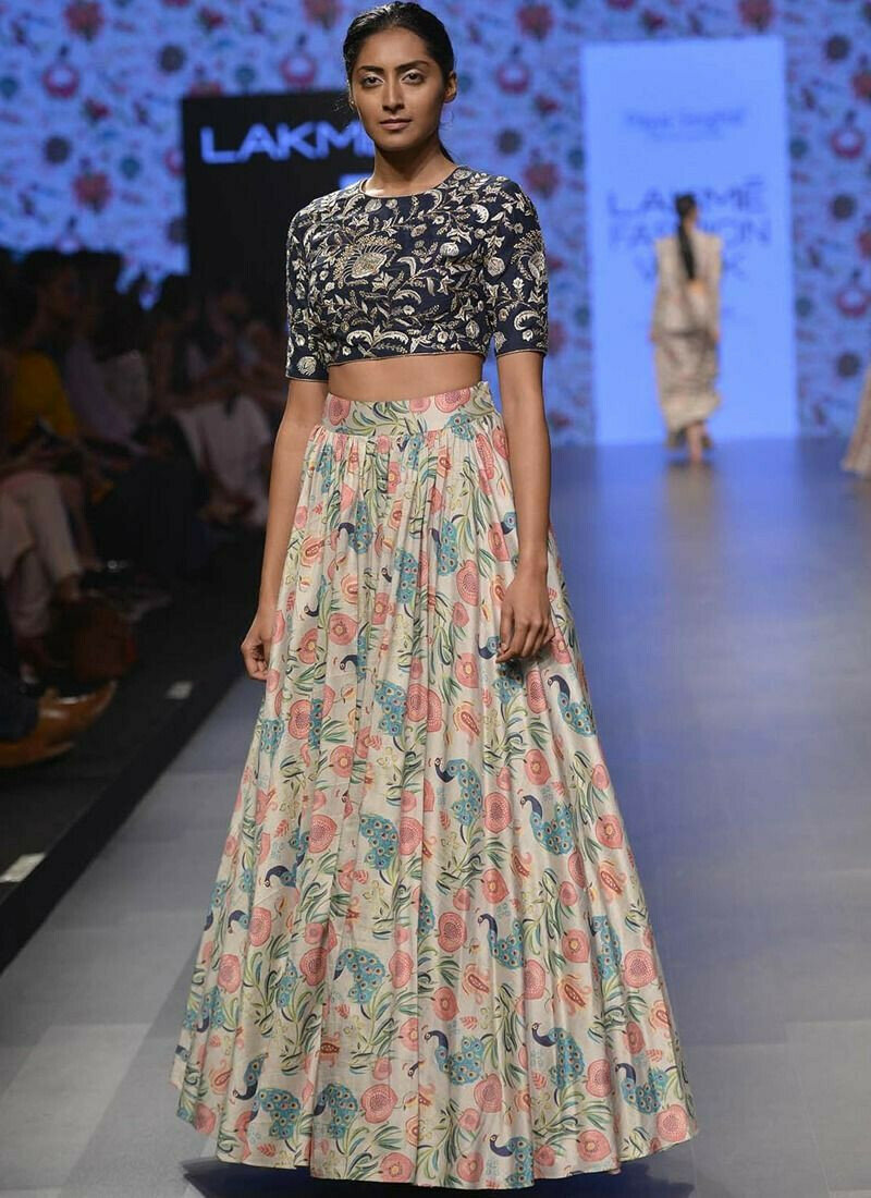 Multi Color Digital Printed Designer Partywear Lehenga Choli