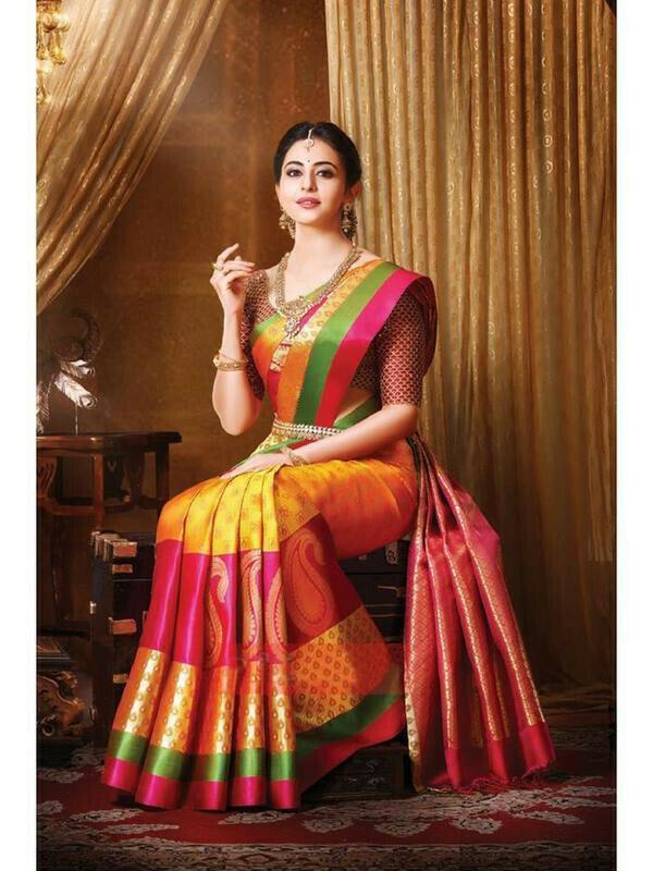 Multi-Color Beautiful Art Silk Saree for women
