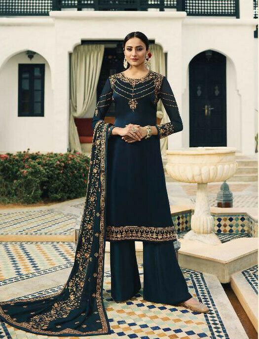 Navy Blue Colour Salwar Suit