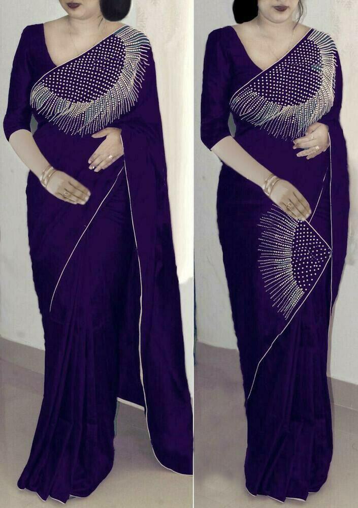 Neavy Blue Color Beautiful Art Silk Saree for women