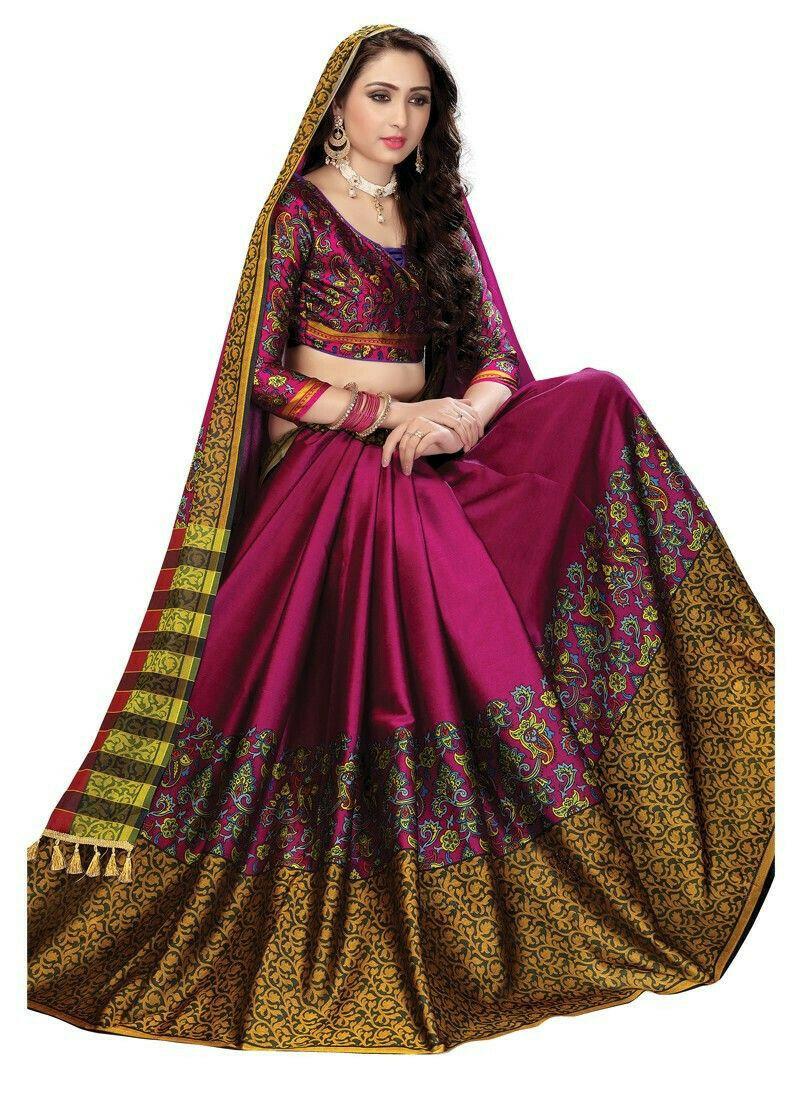 New Arrival Soft Silk Cotton Pink Designer Beautiful Saree