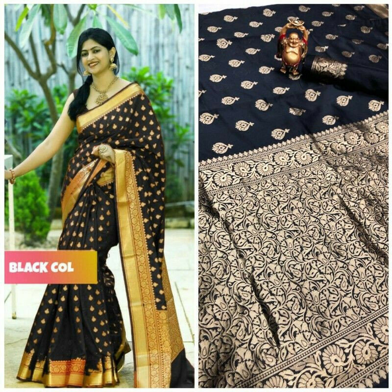 New Collection Black Banarasi Saree