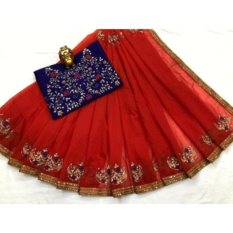 New Collection South Silk Cotton Red Designer Saree