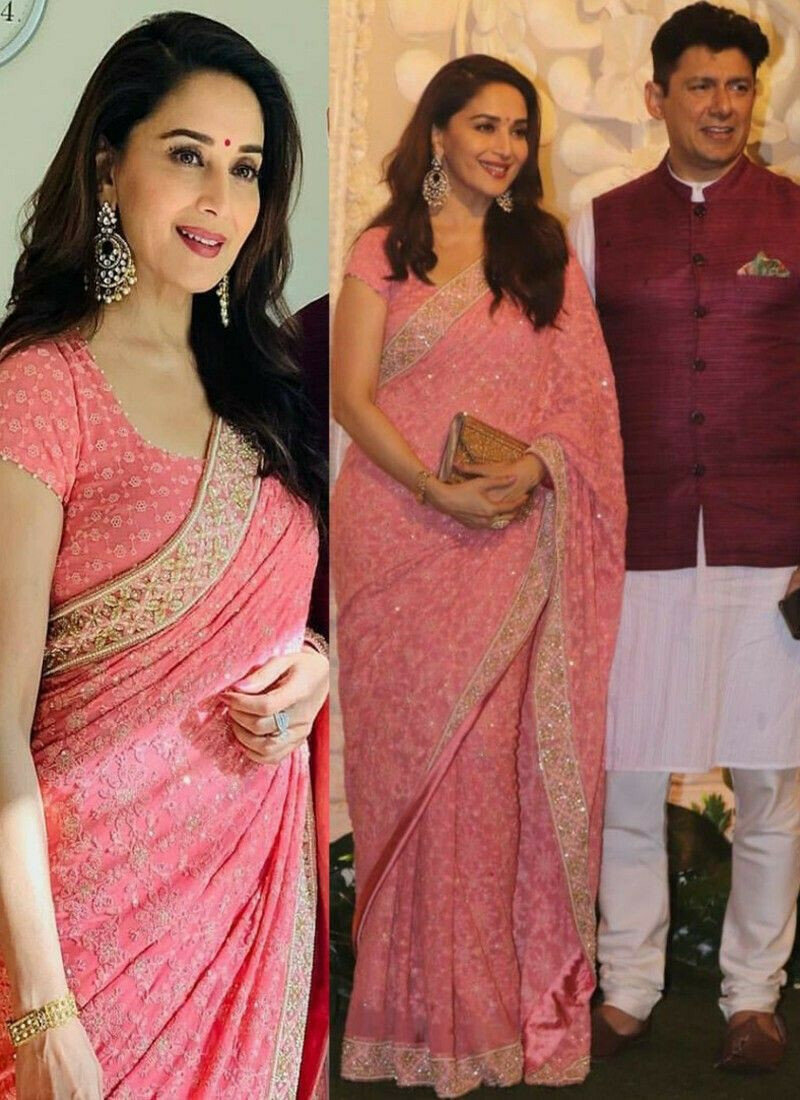 New Launching Superhit Designer Pink Bollywood Saree Collection