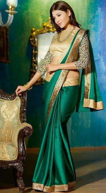 Now Trending Sea Green Color Georgette Party Wear Saree 2019