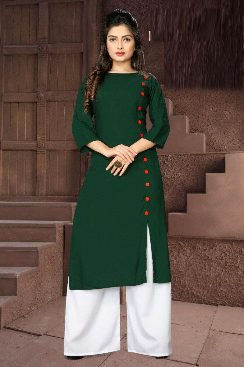 Onlion Fancy Green Palazzo Suit
