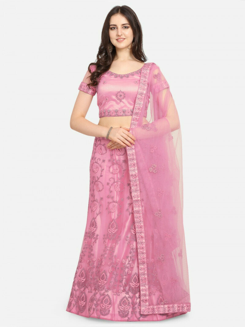 Party Wear Light Pink Color Designer Lehenga Choli