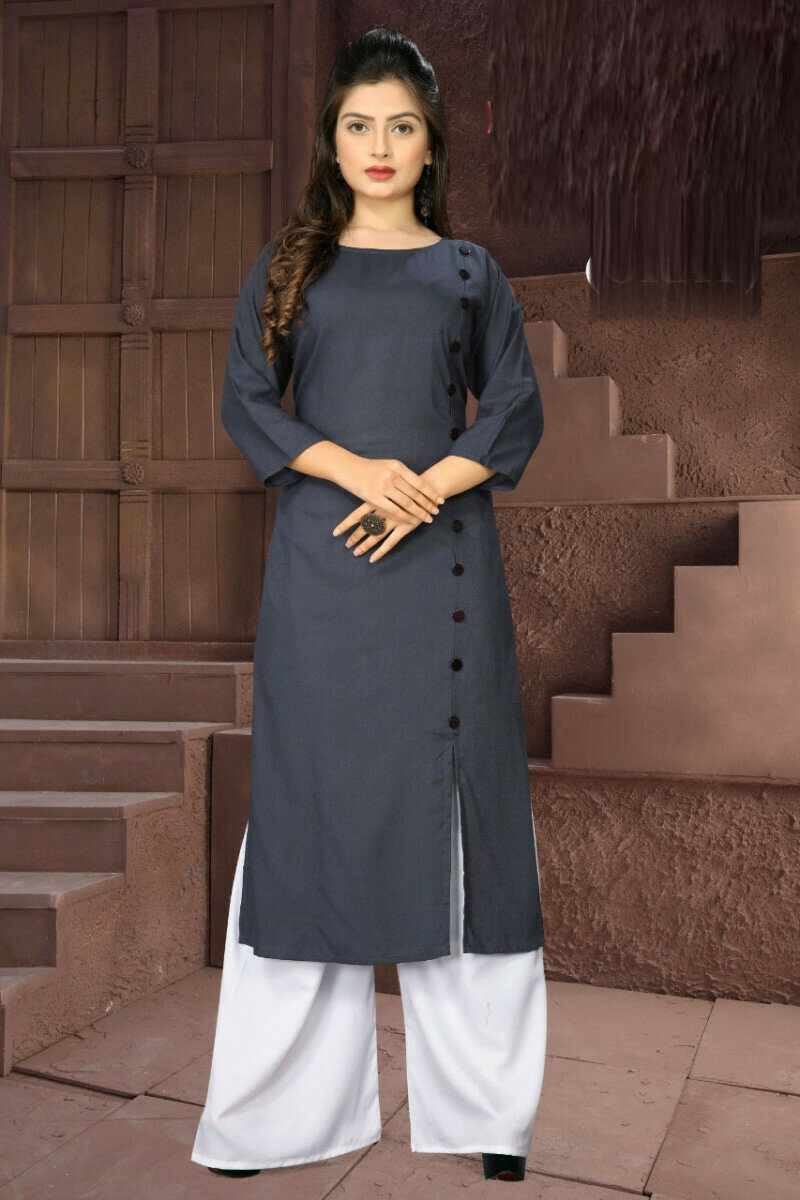 Party Wear Printed Grey Palazzo Suit