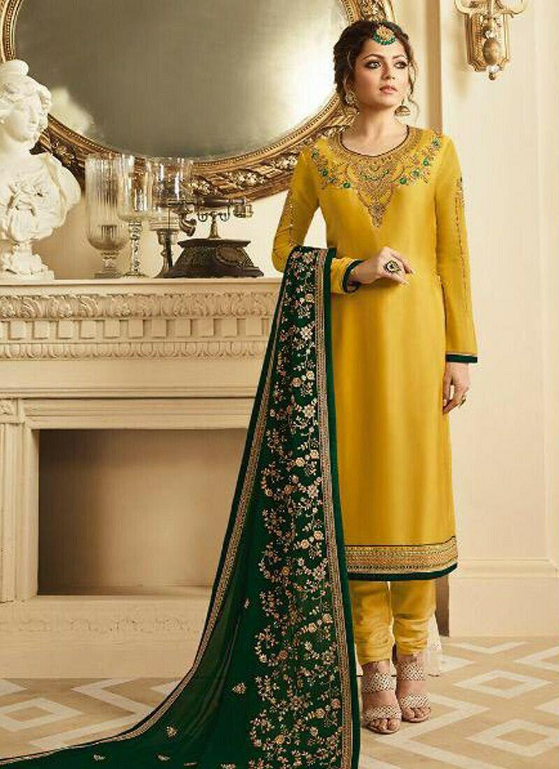 Party Wear Yellow Georgette Designer Salwar Suit