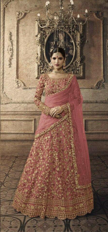 Peach Colour Designer Lehenga Choli