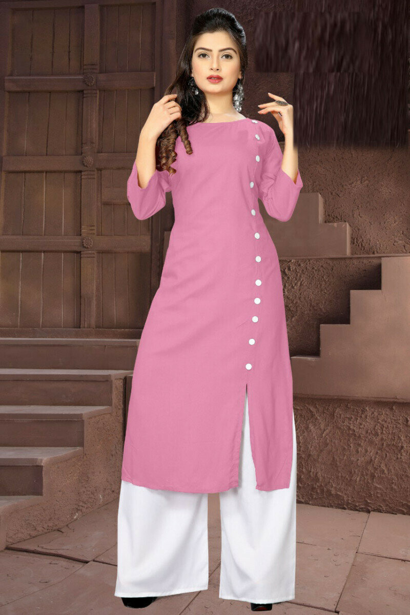 Pink Printed Palazzo Suit