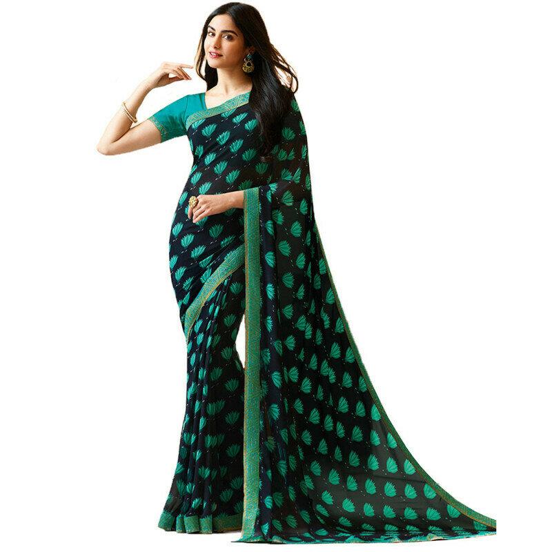 Prachi Desai Printed Georgette Party Wear Saree