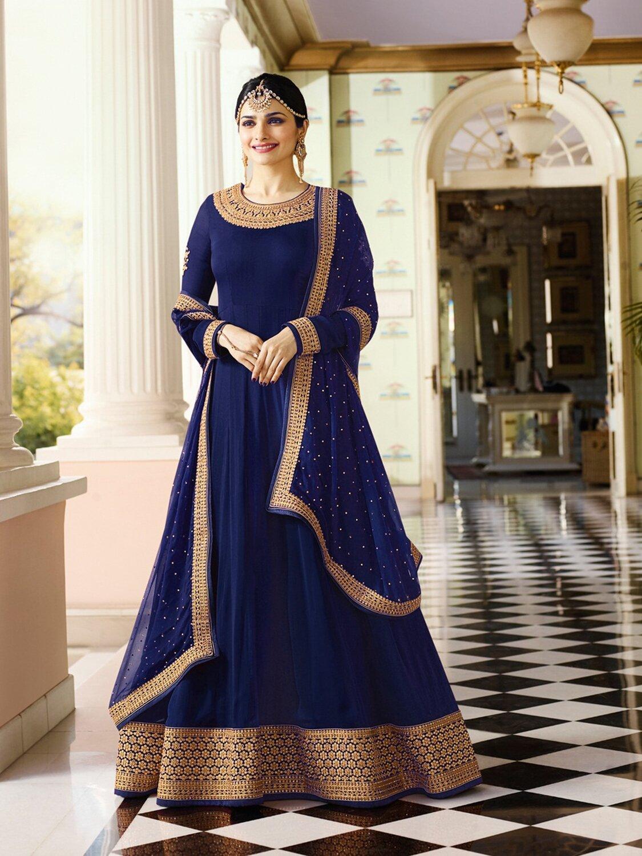 Prachi Desai�Designer �Faux Georgette �Blue Heavy �Embroidered �Salwar Suit