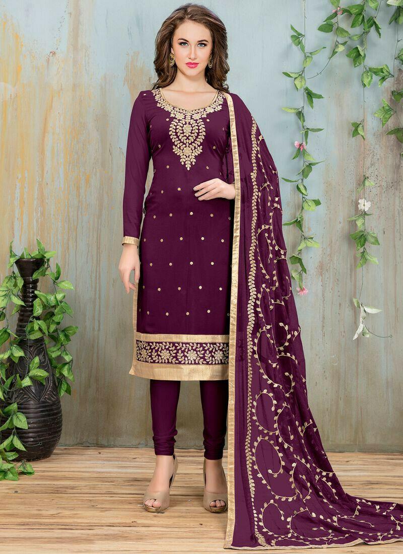 Purple Faux Georgette Aanaya Designer Salwar Suit