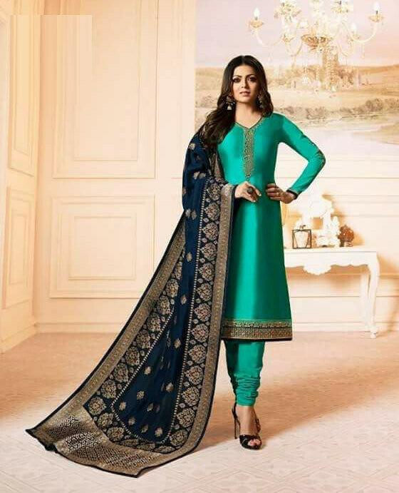 Rama Color Georgette Salwar Suit