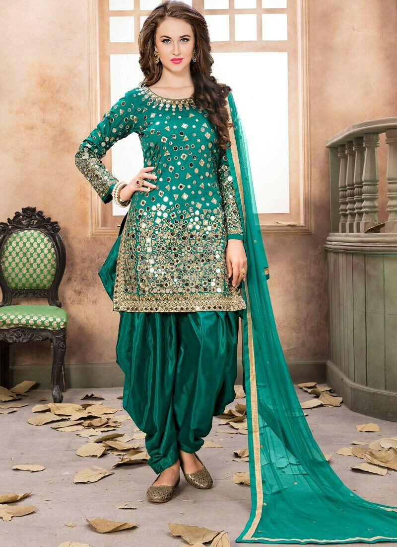 Rama Taffeta Silk Aanaya Festival Designer Punjabi Suit
