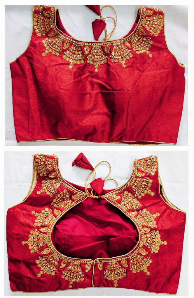 Red Color Fancy Blouse